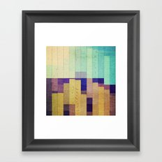 mountains and canyons Framed Art Print