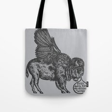 The Buffalo's Plea Tote Bag