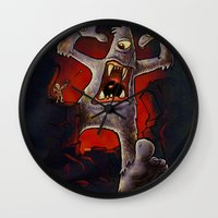 monster Wall Clocks featuring Monster! by Billy Allison