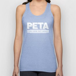 PETA People Eating Tasty Animals Grill Barbecue Meat Pork Design Unisex Tank Top
