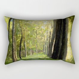 "Odilon Redon ""Lane of Trees"" Rectangular Pillow"