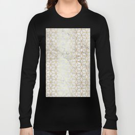 Hive Mind - Marble Gold #510 Long Sleeve T-shirt