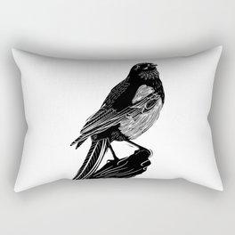 Linocut magpie Rectangular Pillow