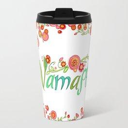 Namaste_Yoga Girls_ Flower Vines_RobinPickens Travel Mug