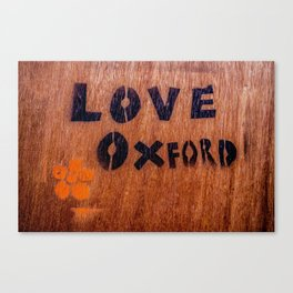 Love in Oxford, Oxford, England, UK Canvas Print