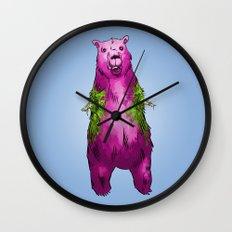 Armless Bear in Nature Wall Clock