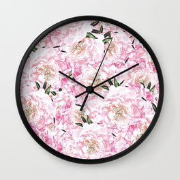 Peonies Pattern Wall Clock