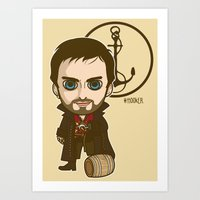 captain hook Art Prints featuring Captain Hook by Samtronika