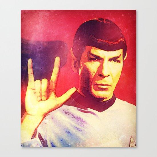 Spock Rocks Canvas Print