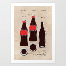 patent Bottle Art Print