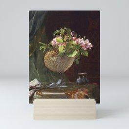 Still Life With Apple Blossoms In A Nautilus Shell 1870 By Martin Johnson Heade | Reproduction Mini Art Print