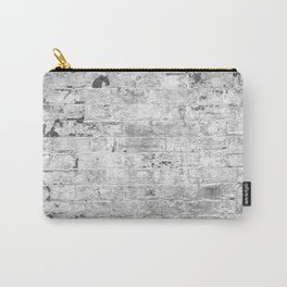 white paint worn brick urban texture Carry-All Pouch