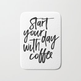 BUT FIRST COFFEE Quote, Start Your Day With Coffee,Calligraphy Quote,Coffee Sign,Funny Kitchen Decor Bath Mat