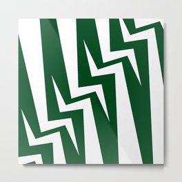 Stairway Series - Green Metal Print