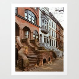 Park Slope Brownstones Art Print