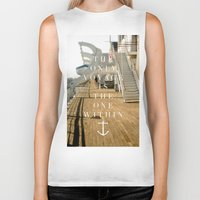 voyage Biker Tanks featuring Voyage by H0D63