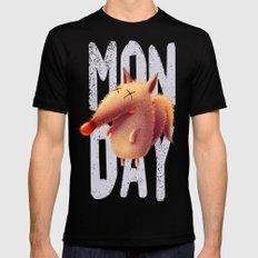 Monday fox MEDIUM Mens Fitted Tee Black