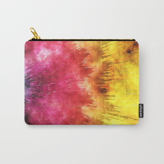 Colorful Textured Tie Dye Carry-All Pouch