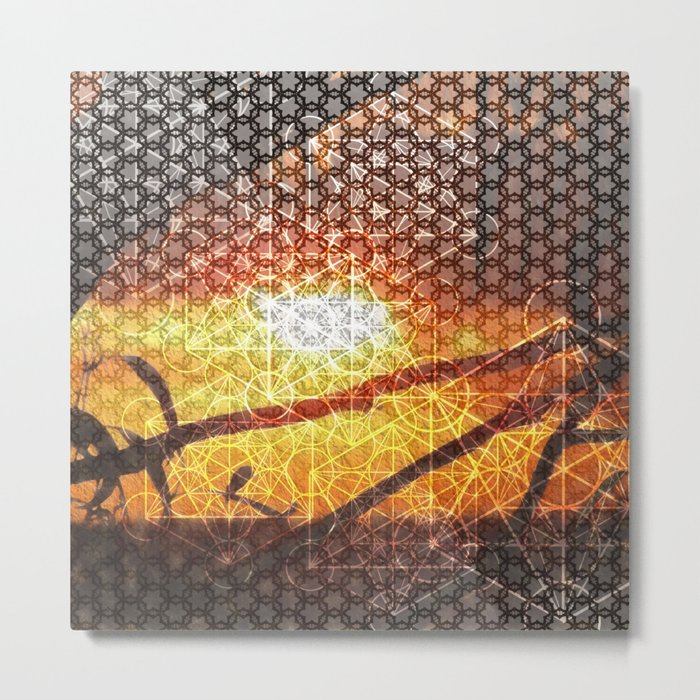Sunset Geometry | Ferntree Gully Metal Print