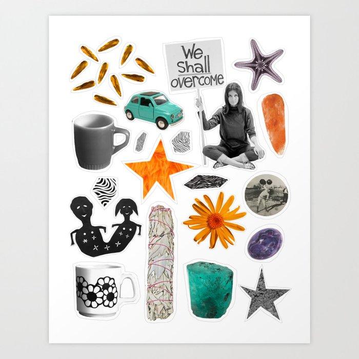 We Shall Overcome Collage Art Print