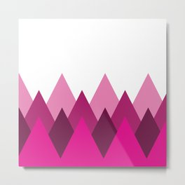 Magenta Mountains Metal Print