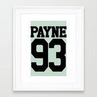 liam payne Framed Art Prints featuring PAYNE by Aline Monteiro