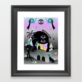 One night on Jupiter Framed Art Print