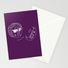 Sun & Moon, Purple Stationery Cards