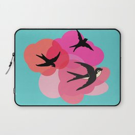 Spring swallows and clouds Laptop Sleeve
