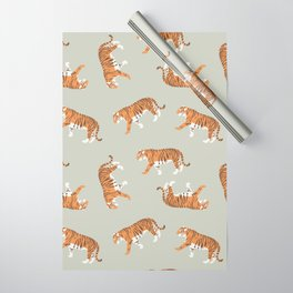 Tiger Trendy Flat Graphic Design Wrapping Paper