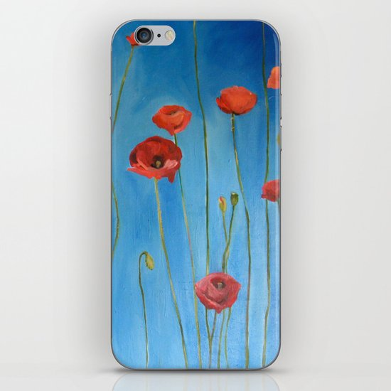 Blue Poppies iPhone & iPod Skin