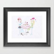 The tea party :) Framed Art Print