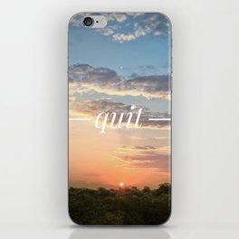 Motus Operandi Collection: Quit iPhone Skin