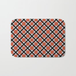 Black and orange plaid Bath Mat