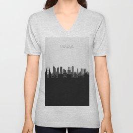 City Skylines: Manama Unisex V-Neck