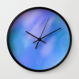 abstract sky in blue Wall Clock