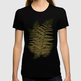Among the ferns in the forest (military green) T-shirt