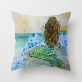 Final Joy Mermaid Throw Pillow