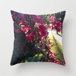 The Light At The End Of The Sidewalk II Throw Pillow