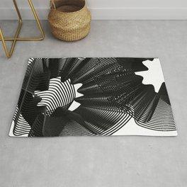 Lineart black cool Rug