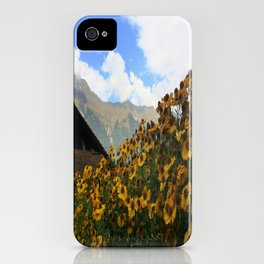 Daisies and Alps iPhone Case