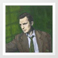 kerouac Art Prints featuring Jack Kerouac by Melinda Hagman