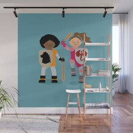 Girls knight out Wall Mural