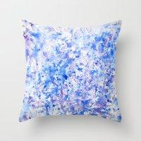 splatter Throw Pillows featuring splatter by From Roxy