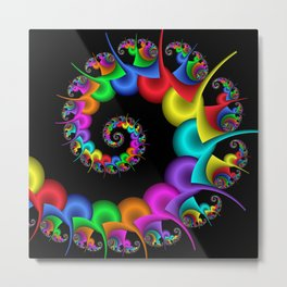 the perky spiral -4- Metal Print