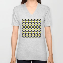 Geometric Pattern 116 (Yellow cross) Unisex V-Neck