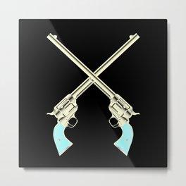 Crossed Guns Pair Metal Print