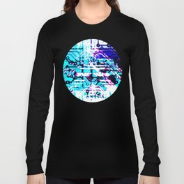 circuit board blue Long Sleeve T-shirt