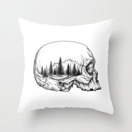 SKULL/FOREST Throw Pillow