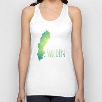 sweden Tank Tops featuring Sweden by Stephanie Wittenburg